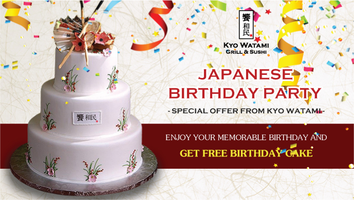 Japanese Birthday Party - Special offer from KYO WATAMI